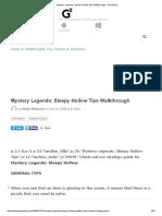 Mystery Legends_ Sleepy Hollow Tips Walkthrough - Gamezebo