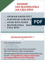 1. Konsep Sains Dan Matematika AUD