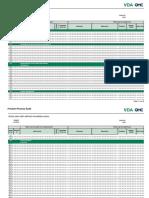 VDA Volume 6.3 2016 Chapter 9.1 Process Audit Action Plan