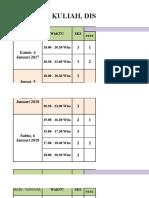 Jadual Perkuliahan MM 48, 49, 50 (Trimester a 2018)