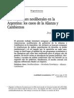 Zicari Neoliberalismo en Argentina Alianza Cambiemos
