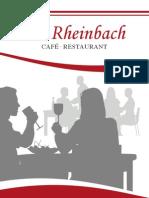 Speisenkarte Alt Rheinbach