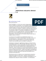 ¿Puede El Federalismo Educativo Detonar La Calidad_ _(I_) - El Universal - Editoriales[1772]