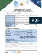 Guía de actividades y rúbrica de evaluación - Fase 1. Analizar causas de deterioro de alimentos