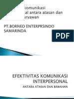 Efektivitas Komunikasi Interpersonal