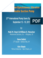 Solving Super-Synchronous Vibration on a Double Suction Pump