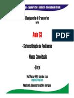 Aula_03- Problemas No Contexto Do Planejamento de Transportes - Mapas Mentais