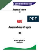 Aula_02- Problemas No Contexto Do Planejamento de Transportes
