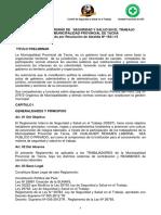 Reglamento y Politica SST MPT