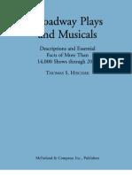 0786434481 Broadway Plays