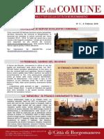 Notizie Dal Comune di Borgomanero dell'8 Febbraio 2018