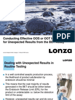 Lonza Webinars Conducting Effective OOS or OOT Investigations for Unexpecte