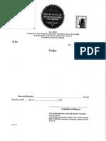 Court order form