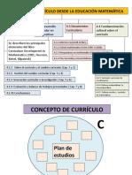 estructura del artículo concepto de curriculo desde la ed matemática