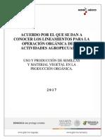 Anteproyecto Guia Uso y Prod. de Semillas y Material Vegetal en La Operacion Organica 15-09-17