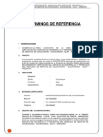 Requerimiento - Terminos de Referencia