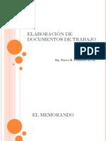 Elaboración de Documentos de Trabajo