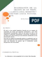 La Organización de La Información en Un Texto