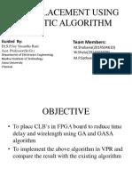 Fpga Placement Using Genetic Algorithm