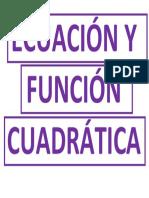 Ecuación y Función Cuadrátic 2