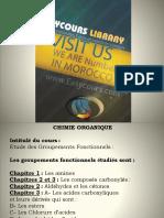 Chimie Organique Fonctionelle S5