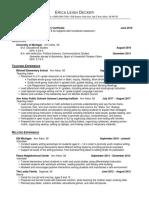 decker teaching resume