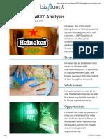 Heineken SWOT Analysis | Bizfluent
