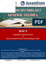APSC Mains Test Series (GS) - Test 3