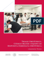 Triage Obstetrico y Codigo Mater
