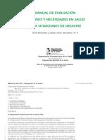 evaluación de daños y necesidades en salud OPS