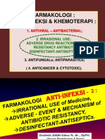 FARMAKOLOGI ANTI-InFEKSI - 2 Irrasional Use & Resistensi