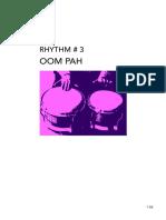 Lecture 14 - Rhythm 3 - 'Oom Pah'