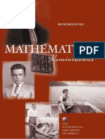 Mathematical Reminiscences - Howard Eves