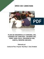 Plan de Desarrollo Comunal- Canchas