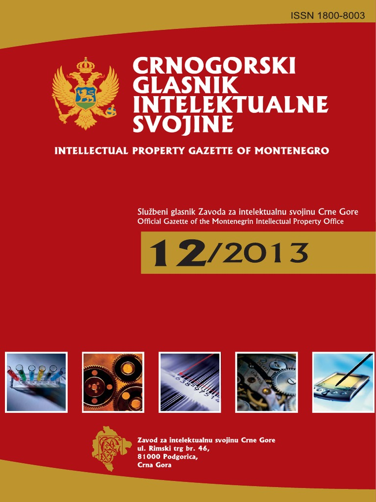 Crnogorski Glasnik Intelektualne Svojine 12