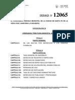 Ord 12065 Ordenanza Tributaria Municipal Anual