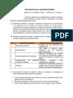 Realizacion Auditoria Interna