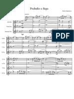 Bach Preludio e Fuga Per Quartetto Di Sassofoni Score