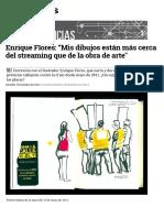 Enrique Flores e2809cmis Dibujos Estc3a1n Mc3a1s Cerca Del Streaming Que de La Obra de Arte