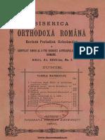 Revista Biserica Orthodoxă Română nr. 03, iunie 1903