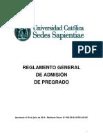 Reglamento General de Admision de Pregrado