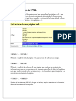 Lista de Etiquetas de HTML