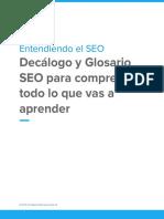 Decalogo y Glosario SEO