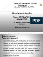 Mercantil contrato Suministro