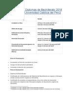 Ingreso Por Diplomas de Bachillerato 2018