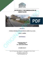 2.0 -DIGITAL- Estudio Geotecnico y Recomendacion de Cimentacion%2c Viv UF Dos Niveles Barrio Villa Lucia - Pasto (Nariño)