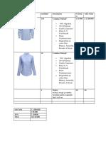 Cotizacion Camisas Oxford