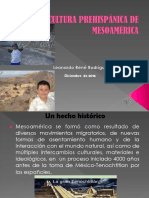 Cultura Prehispánica de Mesoamérica Dic 2016