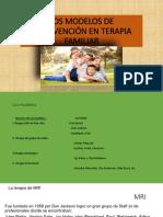Los Modelos de Intervención en Terapia Familiar