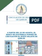 Nuevo Billete de Q.200.00